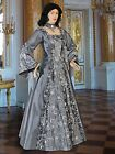 Gothic Renaissance Gown Medieval Costume Mythic long Dress Flora Handmade
