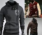 6-Style Hoody Sweats Sales! Mens Stylish Slim Fit Varsity Baseball Coat Jackets