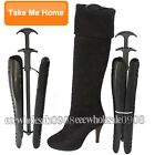 Pairs Ladies Woman Automatic Black Boot Shoe Tree Stretcher Shaper Support Stand