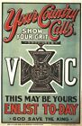 First World War British Victoria Cross Recruitment Poster A3/A2 Print