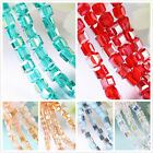 Top Faceted Square Cube Cut Glass Crystal Beads Loose Beads Wholesale