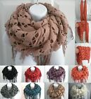 Womter Women Infinity Knit Cowl Neck Long Scarf Shawl snood shimmer soft scarf