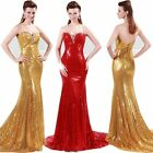 2014 Sexy Mermaid Sequins Womens Prom Party Gowns Evening Long Maxi Brides Dress