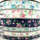 "3/8""9mm &1""25mm mixed colors elegant rose grosgrain ribbon 5 yards U pick"