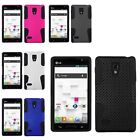 Color Hybrid Mesh 2-Piece Hard/Soft Silicone Case Cover for LG Optimus L9 P769