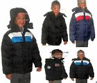 boys hooded water resistant puffer padded jacket kid clothing fur lined children