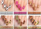 Water Decals - ANIMAL PRINTS Transfer DIY - Full Nail Wrap - Cow Tiger List #1