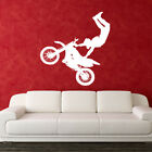 Bike Motorbike Stunt Bedroom Kids Wall Art Scrambler Stickers Decal Mural Vinyl