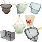 SHRIMP CRAB CRABBING DROP PIER JETTY BOAT FISHING NETS BUCKETS SEA SIDE CRAYFISH