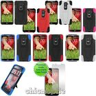 AT&T T-Mobile Sprint Telus Bell LG G2 Y Hybrid Kick Stand Case Skin Cover Screen