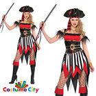 Adult Women Sexy Swashbuckler Pirate Halloween Hen Party Fancy Dress Costume PA