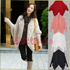 Womens Loose Wool Knit Cardigan Cwallow-tailed Batwing Sweater Outwear Coat