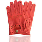 TOP QUALITY REAL SOFT LEATHER MENS DRIVING GLOVES MOTORBIKE GLOVES-RED N-507