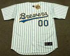 "MILWAUKEE BREWERS 1990's Majestic Cooperstown Home ""Customized"" Baseball Jersey"