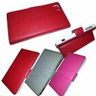 Accessories For Sony experia Z1 Leather Wallet Case Cover & Screen Protector