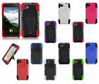 For HTC First Advanced HYBRID KICK STAND Rubber Phone Case Cover Accessory