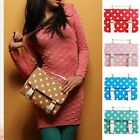 Women Polka dots Messenger Cross Body Satchel Shoulder School Bag Handbag New
