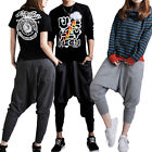 New Women Men Casual Baggy Hip-hop Harem Trousers Dance Pants Couple Sweatpants