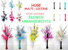 16 Head Gossamer Lotus Flower And Vase Display - Many Colours To Choose From
