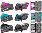 For Apple iPhone 5 5S SE ROBOT ONE HYBRID KICKSTAND Rubber Case Phone Cover