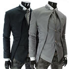 2013 New Men's Silm Fit Blazer Coat Jacket Dress Suits Casual Tops in Black/Grey