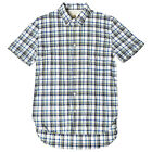 LEVI'S MADE & CRAFTED USN SHIRT SLEEVE SHIRT BLUE YELLOW CHECK RRP £105