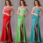 Beaded Sexy Silm Formal Women Long Wedding Dress Bridesmaid Party Prom Ball Gown
