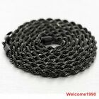 Black Necklace 4mm Singapore twisted chain stainless steel Jewelry For Men  22''