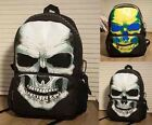 Women Men Nylon Skull Style Book bag School Bag Shoulder backpack Two Colors BC#