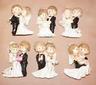 NEW BRIDE & GROOM WEDDING 3D REFRIGERATOR FILE CABINET MAGNET 6 CHOICES GIFT 3""
