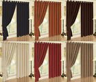 Faux Suede Soft Touch 200 gsm Fully Lined Eyelet Ring Top Curtain Drapes