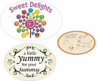 Oval stickers - personalised/customised to suit your needs. Small, medium, large