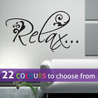 RELAX wall sticker art decal nail hair beauty salon spa, lounge bedroom bathroom