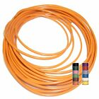 ORANGE (+10 TRACERS) - THINWALL 1mm2 Automotive Cable /Wire 16.5A – per 5 metres