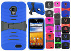 For AT&T GoPhone ZTE Z998 Hard Gel Rubber KICKSTAND Case Phone Cover Accessory