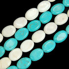"10x14mm Turquoise Flat Oval Beads 15.5"" Pick Color"