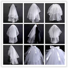Cheap Sale White Wedding Bride Veil Bridal Cathedral Veils Short Veil Collection