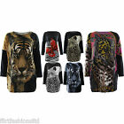 Animal Jumper Leopard Tiger Printed Butterfly Print Sweater Top Dress Knitted