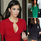 Sexy Keyhole OL Long Sleeve Bodycon Pencil Work Career Formal Dress Party dress