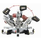 "12"" Double-Bevel Sliding Compound Miter Saw with Laser Guide - NIB Free Fedex"