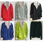 Ladies Long Sleeve Button front V-Neck Spring&Autumn Cardigan Womens Top Sweater