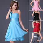 Short Chiffon Bridesmaid Dress Evening Party Cocktail Dress Formal Prom Ballgown