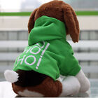 New Pet Puppy Dog Clothes Clothing Hooded T-Shirt Size S M L