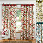 ***CLEARANCE*** Woodland Ring Top / Eyelet Lined Curtains. In Green, Red & Teal