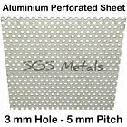 Perforated 1.0mm Aluminium Sheet - 8 Larger Sizes Precision Guillotine Cut
