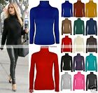 VALENTINE'S WOMEN'S GIRLS LADIES POLO NECK LONG SLEEVE TURTLE TOP JUMPER 8-26