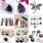Various Fashion Gemstone Beads Dangle Pendant For Necklace Charms Jewellery Gift