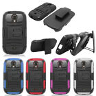 Samsung Galaxy Light T399 Hybrid Combo Holster KICKSTAND Rubber Case Phone Cover