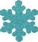Die Cut GLITTER SNOWFLAKES (C) x 25 CHRISTMAS / WINTER for cardmaking, crafts