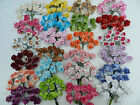 Mulberry Paper Tea Roses - Flowers - Weddings, Favours, Card Making (1.5cm)